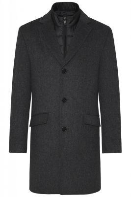 Cappotto grigio scuro digel con pettorina antivento staccabile