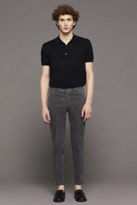Bsettecento slim fit printed velvet trousers
