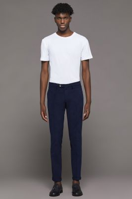 Stretch slim fit bsettecento stretch cotton trousers
