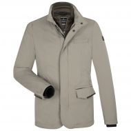Refined beige milestone modern fit field jacket