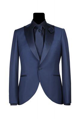 Tuxedo bluette simbols made in Italy slim fit spear chest