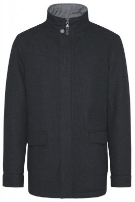 Classic jacket in modern fit modern wool blue or gray