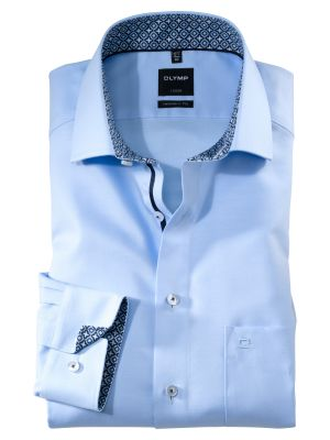 Light sky olymp shirt in twill modern fit cotton
