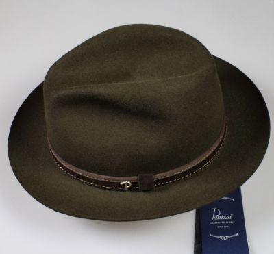 Cappello classico in feltro panizza verde loden waterproof