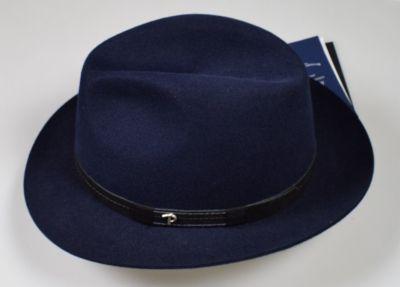 Cappello classico in feltro panizza blu waterproof