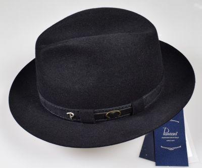 Cappello classico in feltro panizza nero waterproof
