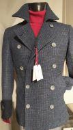 Peacoat cappotto giaccone moda slim fit falko rosso