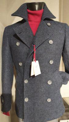Peacoat coat jacket fashion slim fit falko rosso