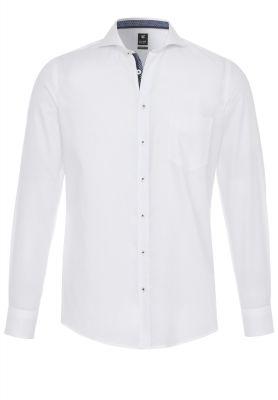 Camicia bianca pure con taschino modern fit