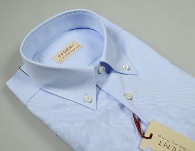 Button down shirt light blue cotton pancaldi oxford regular fit