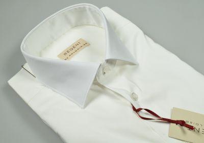Regular fit pancaldi white stretch cotton shirt