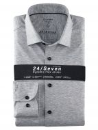 Camicia olymp level five in jersey grigio chiaro slim fit