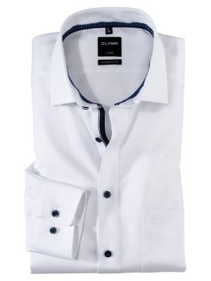 Olymp white cotton shirt operated modern fit
