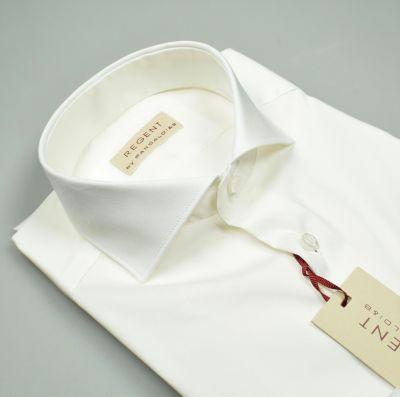 Camicia pancaldi slim fit bianca cotone stretch collo alla francese