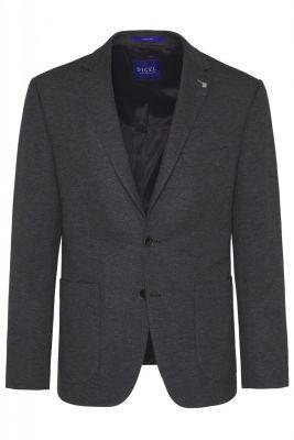 Grey digel blazer jacket unlined in power stretch jersey