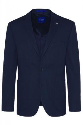 Blue digel blazer jacket unlined in modern fit jersey