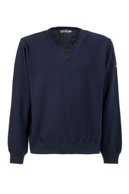 Blue sweater green coast modern fit made in Italy