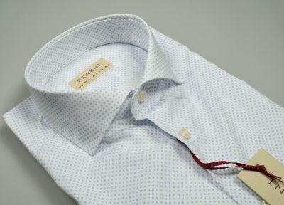 Camicia pancaldi in cotone stretch stampato slim fit