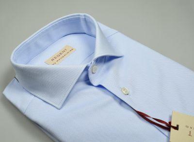 Camicia in cotone oxford pancadi celeste chiaro slim fit