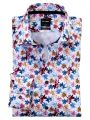 Olymp Luxor floral patterned modern fit cotton shirt