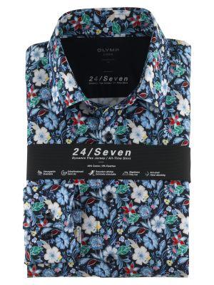 Olymp shirt in modern fit floral patterned jersey
