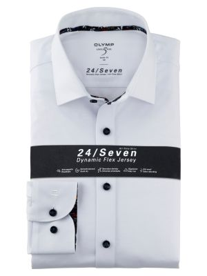 White shirt slim fit olymp level five jersey easy ironing