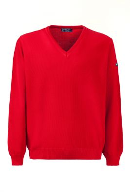 Pullover rosso green coast modern fit made in italy