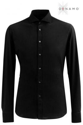 Camicia nera ingram dynamo tessuto performante vestibilità slim fit
