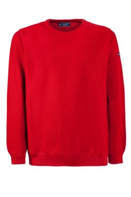 Green Coast red neck round regular fit sweater made in Italy