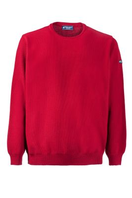 Regular fit sweater around green coast bordeaux neck made in Italy