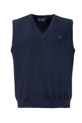 Blue vest with v green coast modern fit neckline
