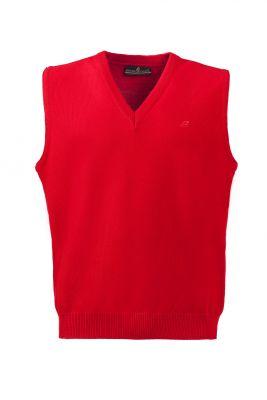 Gilet rosso con scollo a v green coast modern fit
