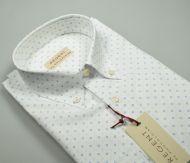 Camicia pancaldi collo button down regular fit cotone stretch