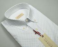 Camicia pancaldi collo button down cotone stampato stretch