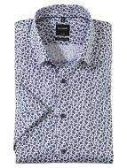Camicia modern fit maniche corte olymp luxor in cotone facile stiro