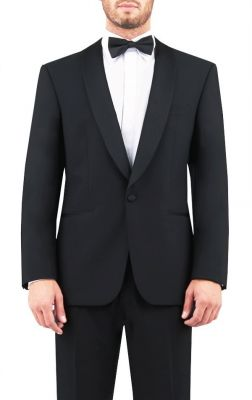 Black digel tuxedo with marzotto wool shawl chest regular fit