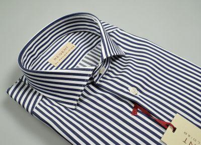 Camicia slim fit pancaldi puro cotone a righe blu