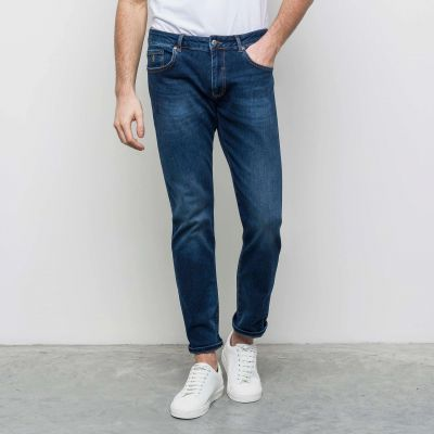 Jeans mcs neon blu denim lavaggio leggero