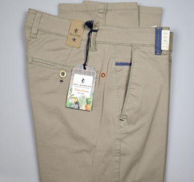 Pantalone beige regular fit sea barrier in cotone stretch
