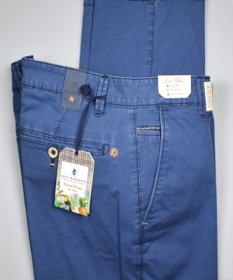 Regular fit sea barrier light blue trousers in stretch cotton