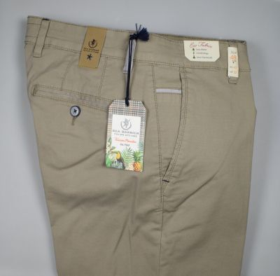 Regular fit stretch cotton sea barrier trousers