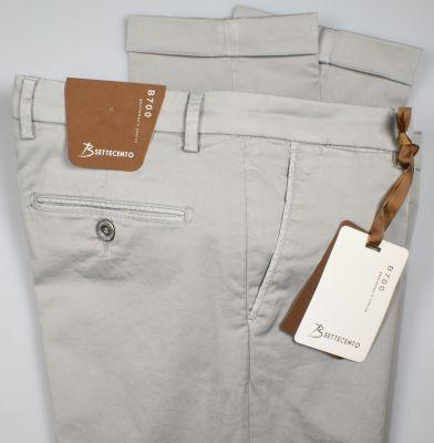 Pantalone bsettecento grigio chiaro slim fit cotone stretch
