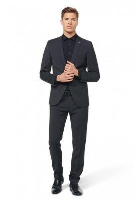 Dark grey dress slim fit digel pure marzotto wool super 100's
