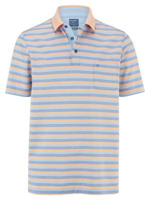 Striped polo shirt with olymp mercerized cotton pocket