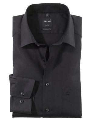 Camicia nera olymp luxor modern fit puro cotone facile stiro