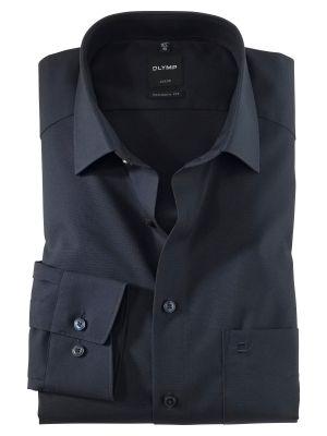 Camicia blu scuro olymp luxor modern fit puro cotone facile stiro