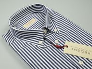 Regular fit dark blue striped pancaldi shirt