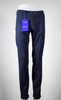 Digel blue trousers in stretch washed cotton modern fit