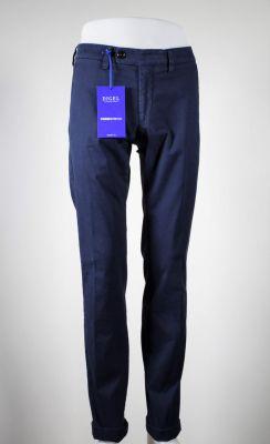 Pantalone blu digel in cotone lavato stretch modern fit