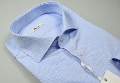 Camicia celeste chiaro slim fit ingram cotone oxford